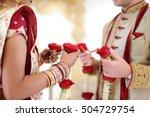 amazing hindu wedding ceremony. ... | Shutterstock . vector #504729754