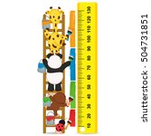 animals brush paint strip for... | Shutterstock .eps vector #504731851