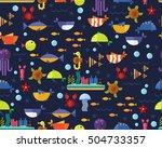 vector flat seamless texture... | Shutterstock .eps vector #504733357