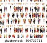 vector flat seamless texture... | Shutterstock .eps vector #504733711