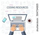 programming  development... | Shutterstock .eps vector #504734005