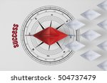leadership minimal concept with ... | Shutterstock . vector #504737479