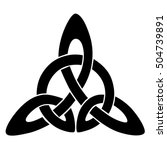 vector black celtic knot... | Shutterstock .eps vector #504739891