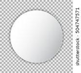 white blank poster mockup in... | Shutterstock .eps vector #504747571