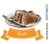 toast colorful illustration....   Shutterstock .eps vector #504748015