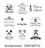 beauty salon design elements in ... | Shutterstock .eps vector #504748711