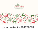 merry christmas holiday... | Shutterstock .eps vector #504750034