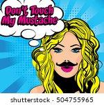 don't touch my mustache.... | Shutterstock .eps vector #504755965