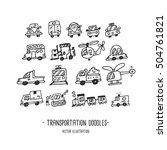 transportation. doodles. hand... | Shutterstock .eps vector #504761821