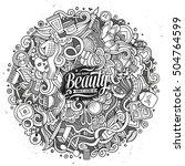 cartoon cute doodles hand drawn ... | Shutterstock .eps vector #504764599