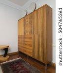 wooden wardrobe | Shutterstock . vector #504765361
