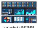 concept of blue computer... | Shutterstock .eps vector #504770134