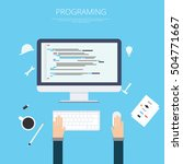 flat web development and... | Shutterstock .eps vector #504771667