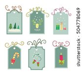 colorful set of 6 labels for... | Shutterstock .eps vector #504778069