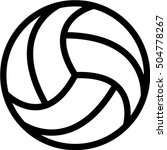 volleyball icon | Shutterstock .eps vector #504778267