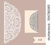 laser cut wedding invitation... | Shutterstock .eps vector #504780385