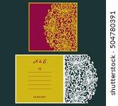 wedding invitation or greeting... | Shutterstock .eps vector #504780391
