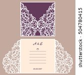 wedding invitation or greeting... | Shutterstock .eps vector #504780415