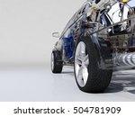 model cars on a white... | Shutterstock . vector #504781909