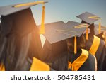 congratulated the graduates in... | Shutterstock . vector #504785431