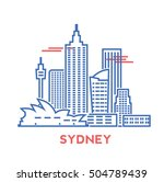 sydney city architecture retro... | Shutterstock .eps vector #504789439