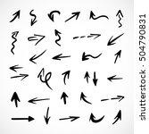 hand drawn arrows  vector set | Shutterstock .eps vector #504790831