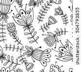 seamless floral pattern... | Shutterstock .eps vector #504793855