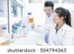asian scientist  in the... | Shutterstock . vector #504794365