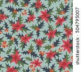 festive christmas pattern   Shutterstock .eps vector #504795007