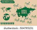green concept infographic | Shutterstock .eps vector #504795151