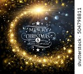 christmas background with gold... | Shutterstock .eps vector #504798811