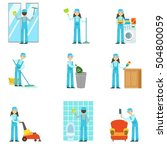 professional clean up service... | Shutterstock .eps vector #504800059