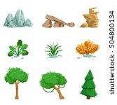landscape natural elements set... | Shutterstock .eps vector #504800134