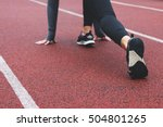 female runner ready for running ... | Shutterstock . vector #504801265