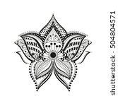 illustration ethnic flower... | Shutterstock . vector #504804571