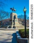 Small photo of American Civil War Major General William Tecumseh Sherman Monument (built 1903), Washington DC, USA