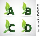 vector green alphabet set of... | Shutterstock .eps vector #504806521