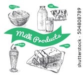 dairy products colorful...   Shutterstock .eps vector #504808789