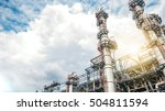 industrial zone the equipment... | Shutterstock . vector #504811594