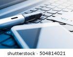business online concept  mobile ... | Shutterstock . vector #504814021