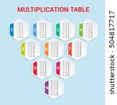 multiplication table. vector... | Shutterstock .eps vector #504817717