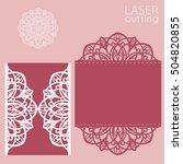 laser cut wedding invitation... | Shutterstock .eps vector #504820855