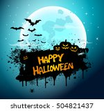 vector illustration of a happy... | Shutterstock .eps vector #504821437