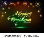 merry christmas | Shutterstock .eps vector #504826867
