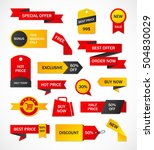 vector stickers  price tag ... | Shutterstock .eps vector #504830029