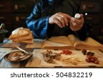 hands of practitioner making... | Shutterstock . vector #504832219