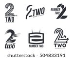 set of black and white number... | Shutterstock .eps vector #504833191