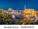 Stock photo aerial view of las vegas strip in nevada as seen at night usa 504833629