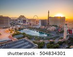 Stock photo aerial view of las vegas strip in nevada as seen at night usa 504834301