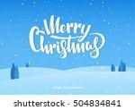 vector illustration  winter... | Shutterstock .eps vector #504834841